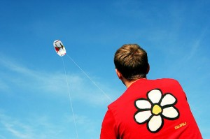 How groups with kids with adhd can go fly a trainer kite