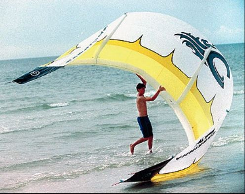 Kitesurfing Kite Launch