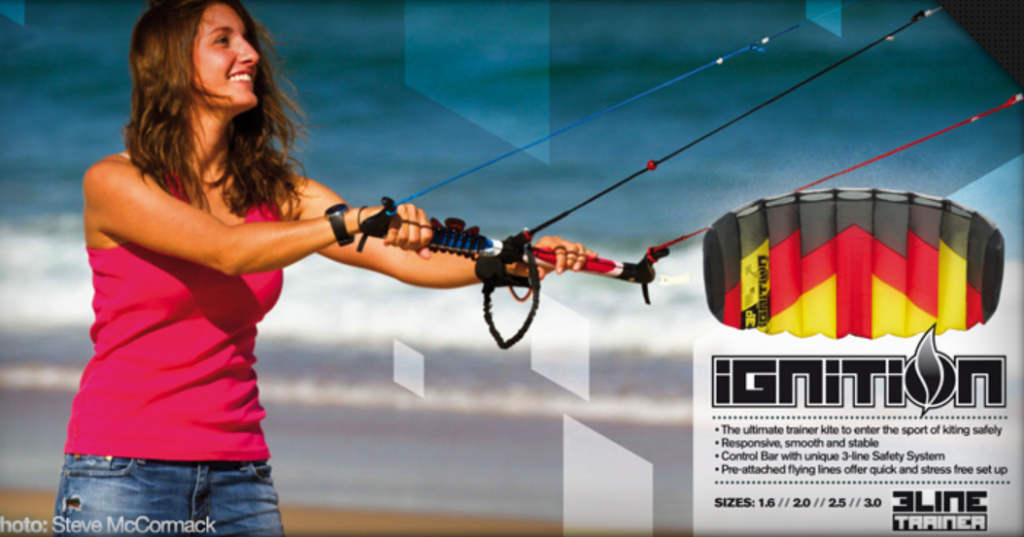 learn to kitesurf with ozone kiteboard trainer kite